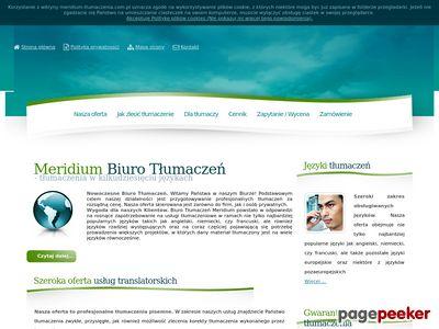 Biuro Tłumaczeń Meridium - tłumaczenia pisemne